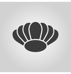 The shell icon Ocean symbol Flat vector image