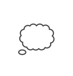 Thought bubble line icon vector