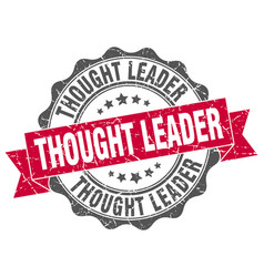 thought leader stamp sign seal vector image