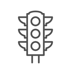 Traffic light thin line icon vector