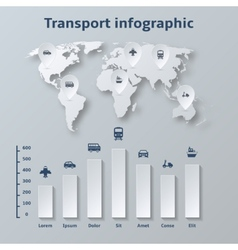 Transport Paper Infographics Elements vector
