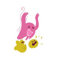Ugly evil microbe virus bacteria characters vector