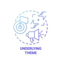 Underlying theme concept icon vector