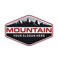 vintage mountain logo design vector image