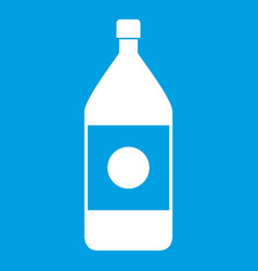 Water bottle icon white vector