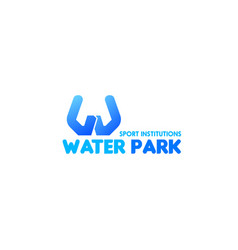 Water park icon vector