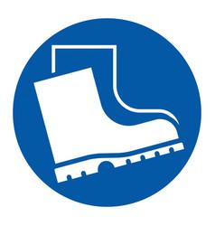 Wear safety footwear sign vector