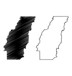 West carroll county louisiana us county united vector