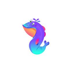 Whimsical sea creature vector