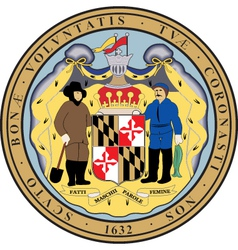 Maryland Seal vector image
