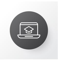 online education icon symbol premium quality vector image vector image