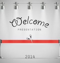 Photorealistic bright stage vector image vector image