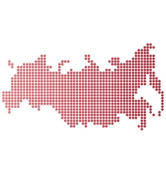 Russia Dot Map vector image vector image