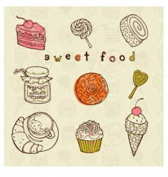 tasty cakes set vector image vector image