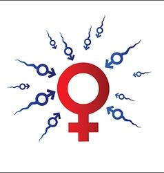 Woman and Man symbol vector image vector image