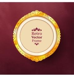 Baroque golden frame vector image