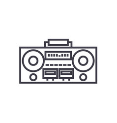 record tape player line icon sign vector image