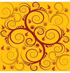 seamless swirl background vector image vector image