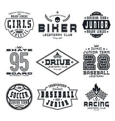 Set of sports emblems vector image vector image