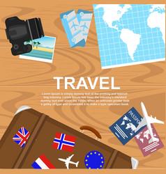 travelers desktop top view vector image