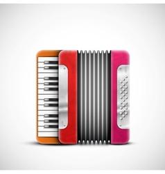 Colorful accordion vector image