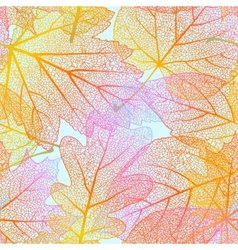 Detailed leaves seamless background EPS 10 vector image vector image
