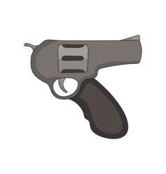 hand drawn revolver vector image
