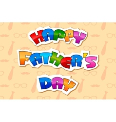 Happy Fathers Day Background vector image
