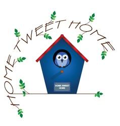 HOME TWEET HOME vector image vector image