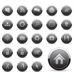 icons set for web design vector image