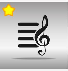 playlist black icon button logo symbol vector image vector image