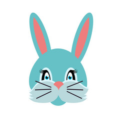 rabbit animal carnival grey small bunny hare vector image vector image