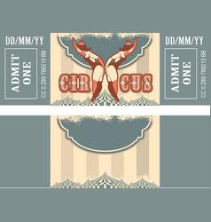 retro circus ticket vector image
