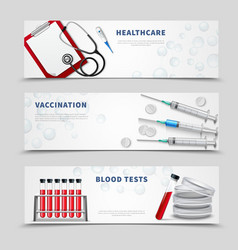 vaccination medical banners set vector image vector image