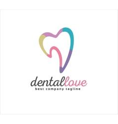 Abstract dental logo icon concept Logotype vector image