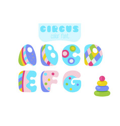 cartoon style letters a b c d e f g and vector image