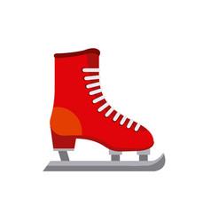 Ice skates icon vector
