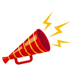 megaphone strip red isolated vector image vector image