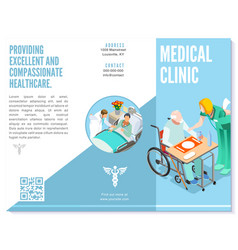 Trifold brochure medical clinic template hospital vector