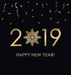2019 year card vector image