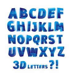 3d alphabet letter vector