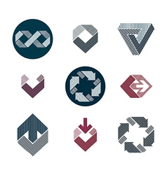Abstract creative lined design elements collection vector