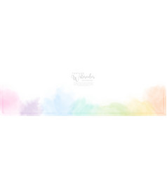 Abstract pastel watercolor for background vector