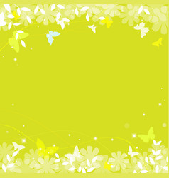 abstract spring summer background in green color vector image
