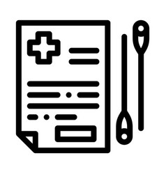 Acupuncture medical referral icon outline vector