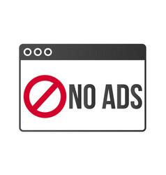 Ad block popup banner lock concept vector