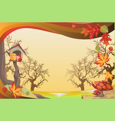Autumn or fall season background vector