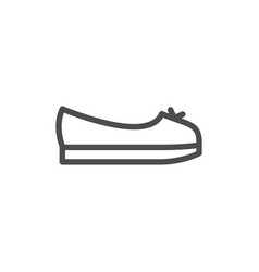 Ballerina shoe line icon vector