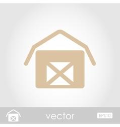 Barn house icon vector