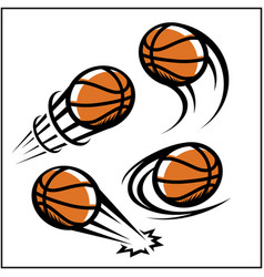 Basketball swoosh set 4 vector